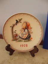 """Hummel, 1978, 7.5"""" 8th Annual Collector Plate, """"Happy Pastime"""" Hum 271, TMK-5, - $118.79"""