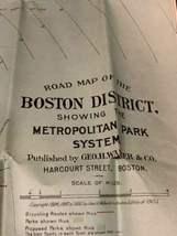 Walker & Co. Antique 1903 Lot Brookline Boston Road Map Cyclist Iver Johnson image 6