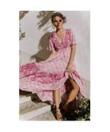 Pink Floral Print Dress - $79.95