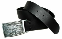 Levi's Men's Stylish Premium Genuine Leather Belt Black 11LV0253 image 3