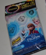 Disney Frozen Light Up Glow Balloons Anna, Elsa & Olaf 5 Count Per Package Decor - $4.95