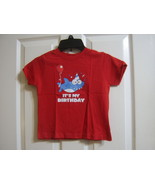 SHARK IT'S MY BIRTHDAY COLOR RED SIZE 24M NEW SEE MEASUREMENTS :B19-50 - $13.85