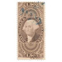 1863 $1.90 USA Internal Revenue, George Washington R80c Foreign Exchange... - $99.00