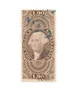 1863 $1.90 USA Internal Revenue, George Washington R80c Foreign Exchange... - £70.88 GBP