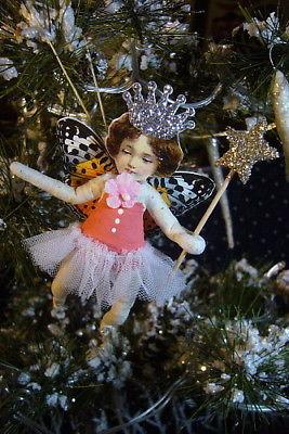 Vintage Inspired Spun Cotton Fairy Girl Christmas Ornament no. 128