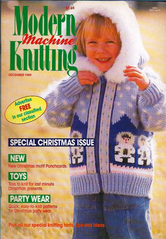 Primary image for Modern Machine Knitting Dec 1989 Magazine Father Christmas Special Holiday Issue