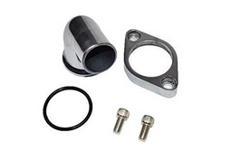 A-Team Performance 15° Swivel Polished Water Neck Thermostat Housing Compatible