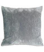 Pillow Decor - Wide Wale Corduroy 18x18 Dark Gray Throw Pillow - $39.95