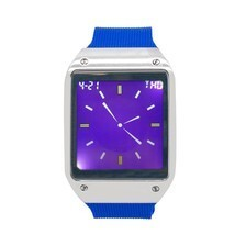 Techno Pave Digital Touch Screen Watch Silver Finish w/ Blue Sport Band ... - $33.23 CAD