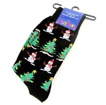 Snowmen Mens Novelty Christmas Crew Socks Casual Cotton Blend Fun Snowma... - $12.95