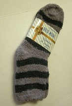 Socks, Ladies Butter Soft Gray & Black Striped, Size 9-11, By Gold Medal... - $5.76