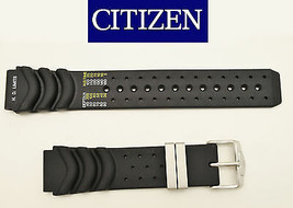 Genuine Citizen 20mm Eco-Drive AQUALAND Rubber Watch Band BJ2000-09E BJ2... - $50.95