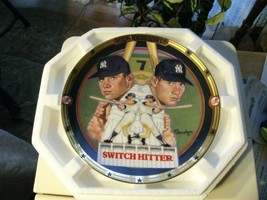 17#11 The Hamilton Collection Switch Hitter Mickey Mantle Collectors Plate - $13.85