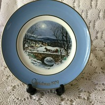 Enoch Wedgewood Avon Dashing Through The Snow Seventh Edition Porcelain Plate  - $11.63