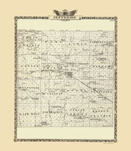 Jefferson County Illinois  - Warner 1876 - 23.00 x 26.59 - $36.58+