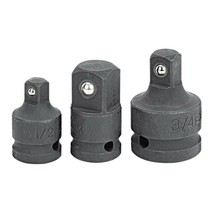PITTSBURGH 3 Piece Impact Socket Adapter Set Black phosphate finish - $12.86