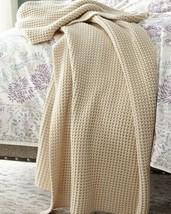 Ralph Lauren Alessandra Ashridge Knit Throw Blanket Sand NWT $355 - $164.85