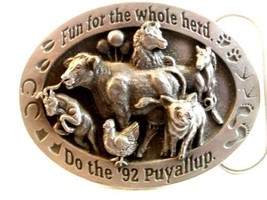 1992 Siskiyou Fun For The Whole Herd Puyallup Belt Buckle - $44.54
