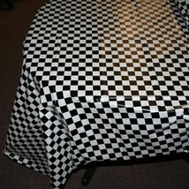 "Plastic Checkered Tablecover,54"" x 108"" - $6.39"
