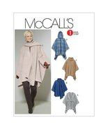McCall's Patterns M6209 Misses' Ponchos and Belt, Size Y (XSM-SML-MED) - $14.21