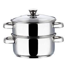 Vinod Cookware 2 Tier Steamer Silver 20Cm - $79.00