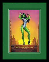 Savage She Hulk 11x14 Framed Poster Display Marvel J Scott Campbell GGA - $34.64