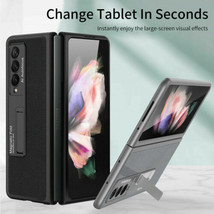 For Samsung Galaxy Z Fold 3 5G Leather Flip back hard Flip Full Case Cover - $95.00