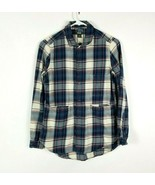 Roots Canada Plaid Flannel Womens Long Sleeve Shirt Size XS 3 Pocket Sna... - $30.68