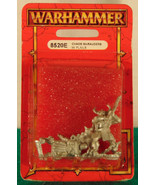 Warhammer Fantasy CHAOS MARAUDER WITH FLAILS 852E Unpainted Mint  - $13.89