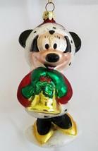 Y2K Disney Christmas Ornament Minnie Mouse Blown Glass Energizer Promoti... - $7.90