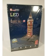 Cubic Fun 3D Puzzle LED Big Ben Architecture Model L501H 28 Pieces New - $24.70