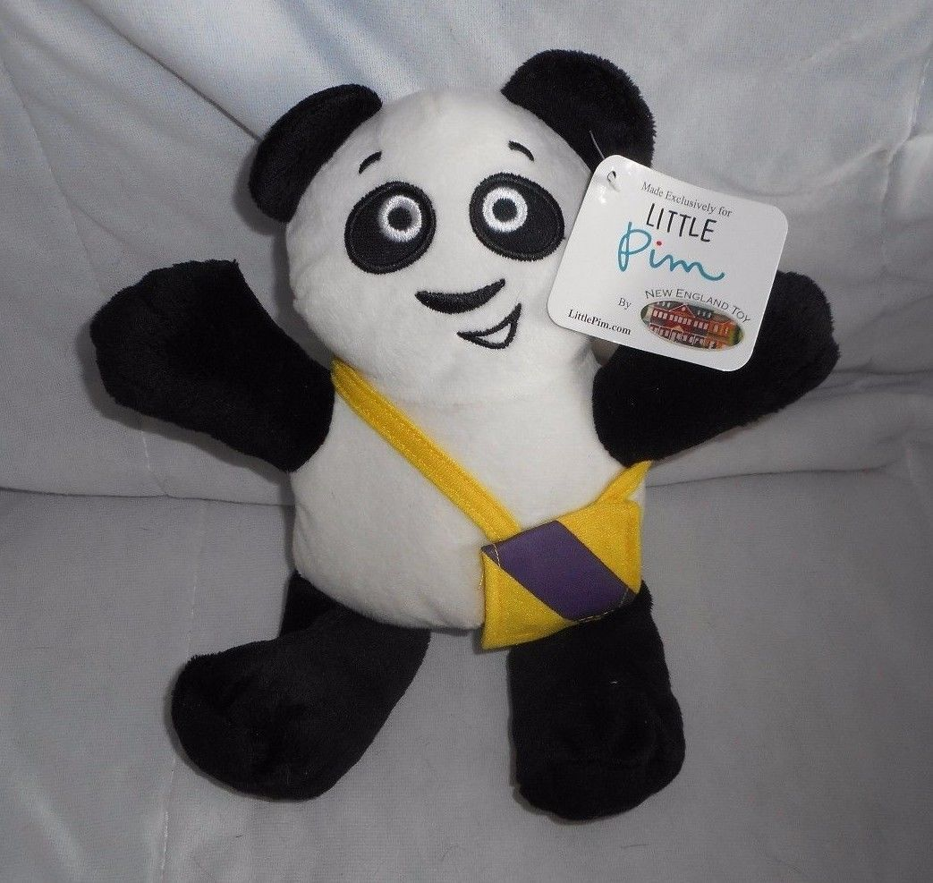 "10"" 2014 LITTLE PIM PANDA BEAR NEW ENGLAND STUFFED ANIMAL PLUSH TOY W/ TAG image 1"
