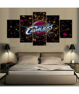 Cleveland Cavaliers Wall Art Canvas Painting Poster 5 Piece Framed NBA P... - $74.99+
