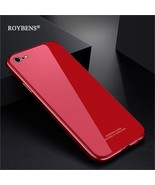 Roybens® For Iphone 6 6S Phone Case Glass + Plating PC + Metal Bumper 3 ... - $18.60