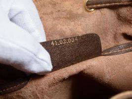 GUCCI GG Web PVC Canvas Leather Browns Drawstring Shoulder Bag GS2171 image 11