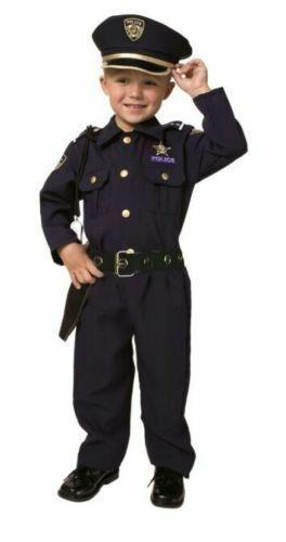 New Dress Up America Child Toddler Police Officer Costume Set Size 4 (3-4)