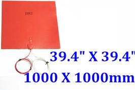 """39.4"""" X 39.4"""" 1000 X 1000mm 220V 3300W w/ 3M w/ NTC100K CE Rubber Heater... - $730.62"""