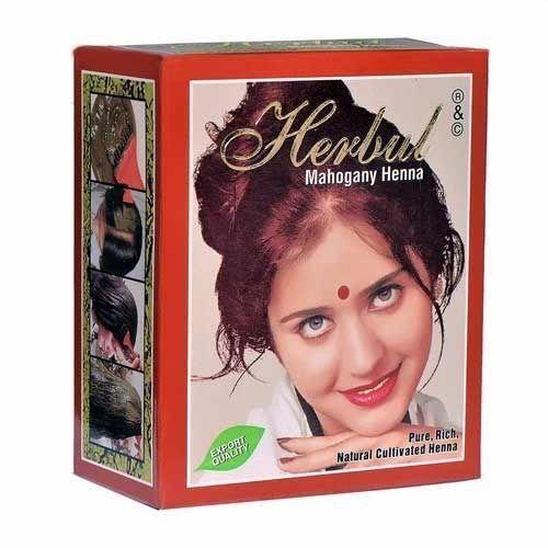 Herbul Henna Hair Color Mahogany Henna 100% PURE and Natural Product 6 x 10g