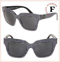 Dolce & Gabbana Pied De Poule Print 4286 Black Oversized Sunglasses DG4286S - $212.85