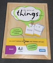 The Game of THINGS - ADULT HUMOR GAME COLLECTOR WOODEN BOX! 100% Complet... - $7.92
