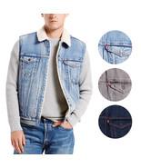 New Levi's Men's Premium Button Up Sherpa Fleece Lined Multi Pocket Deni... - $74.28