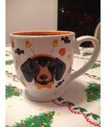 Jumbo Happy Halloweenie Dachshund Dog Cup Mug It's All About The Candy! ... - $22.99