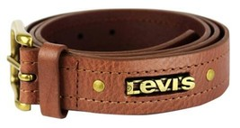 NEW LEVI'S MEN'S STYLISH CLASSIC PREMIUM GENUINE LEATHER BELT BROWN 11LV3253 image 2