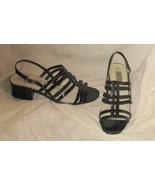 Vintage Ashley Taylor Black Strippy Sling, Size 9 - $24.95