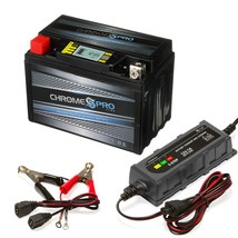 YTX9-BS iGel Powersport Battery 1A Smart Battery Charger- Bundle of 2 Items - $58.72