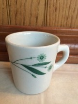 Vintage Caribe Puerto Rico USA Y.3 Diner Coffee Cup Mug Green Floral Res... - $11.29