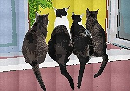 pepita Cats in A Row Needlepoint Kit - $105.00