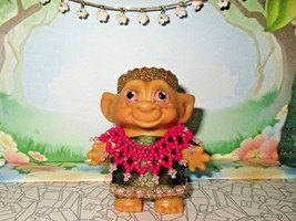 ROOTIE TROLL 3 inch BLACK Hair ooak custom tab doll Vintage 60's Indian ... - $22.77