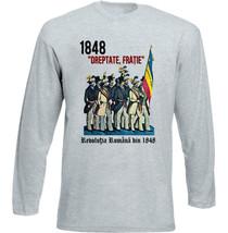 Romania Revolution 1848 - New Cotton Grey Tshirt - $25.65