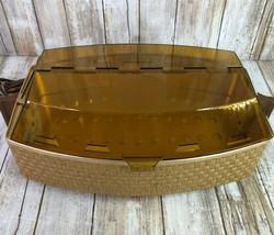 Vintage Salton Covered Hotray Bun Bread Food Warmer Faux Bomboo Plastic ... - $57.99